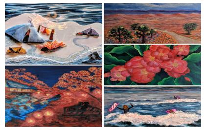 links to a collage of the artist&#39s work