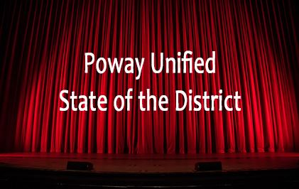 links to an image saying poway unified state of the district