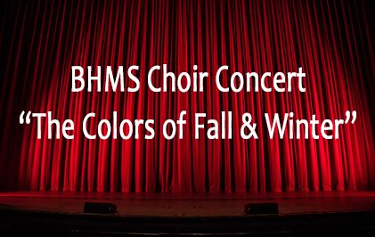 "Image of the name of the concert ""The Colors of Fall and Winter"""