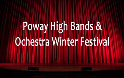 "Links to image of the title ""Poway High Bands and Orchestra Winter Festival"